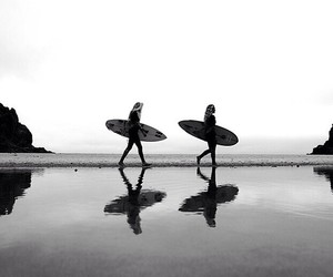 surf, summer, and beach image
