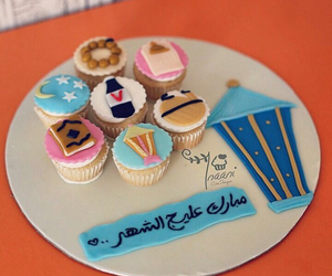 arabic, cupcakes, and arabic words image