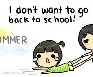 school, summer, and text image