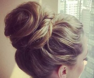 bun, fashion, and girl image