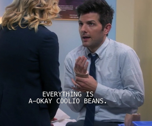 cool beans, parks and rec, and coolio image