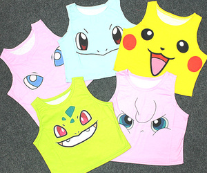 beauty, crop top, and pokemon image