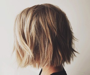 hair, blonde, and short image