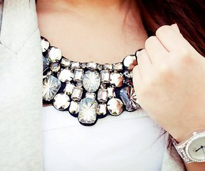 fashion, necklace, and watch image