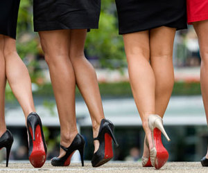 shoes, legs, and heels image