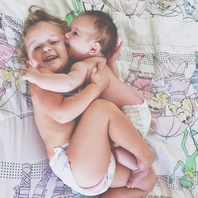 baby, happy, and brother image