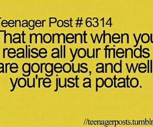 friends, potato, and teenager post image