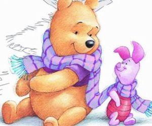 disney, piglet, and Pooh bear image
