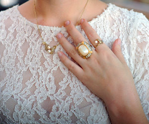 fashion, lace, and ring image