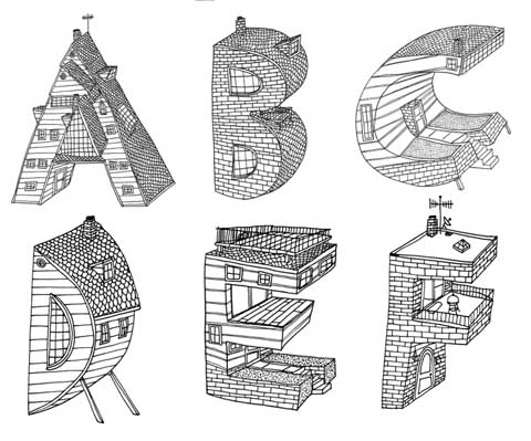 drawings, dwellings, and lettering image