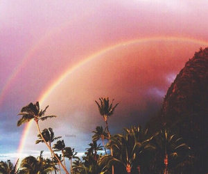 rainbow, sky, and summer image