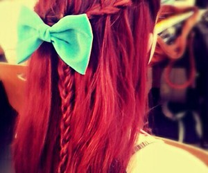 ariel, blue, and bow image