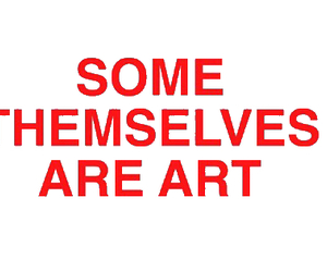 art, red, and quote image
