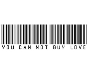 love, quote, and black and white image