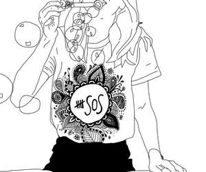 outline, 5sos, and art image