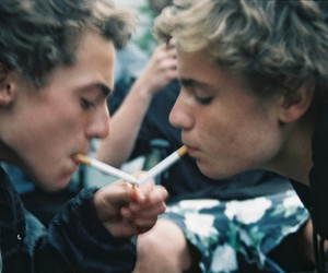 boy, smoke, and grunge image