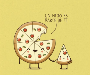 love, pizza, and hijo image