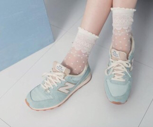 90's, pale, and sneakers image