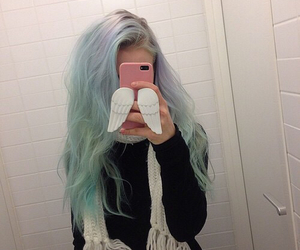 hair, grunge, and pale image