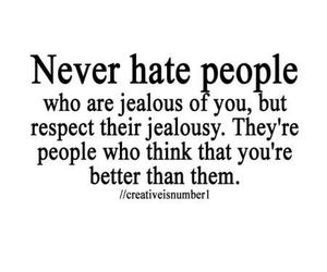 quote, hate, and jealous image
