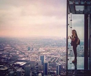 city, girl, and travel image