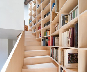 book, stairs, and interior image