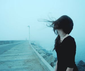 girl, grunge, and blue image