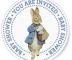 beatrix potter, baby shower, and baby shower stickers image