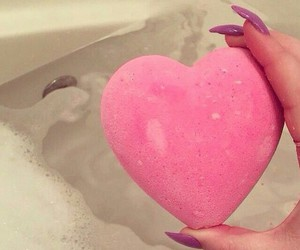 heart, pink, and nails image