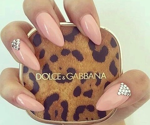 nails, style, and leopard image