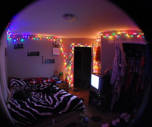 lights, bedroom, and creative image