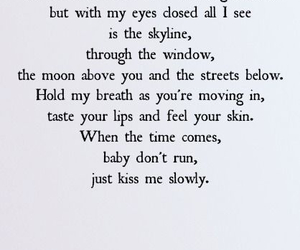 parachute, kiss me slowly, and Lyrics image