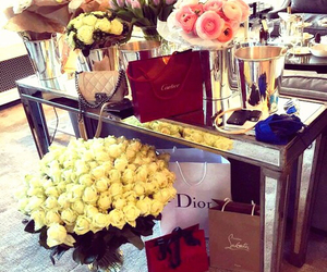 flowers, cartier, and dior image