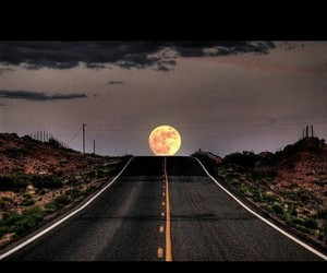 moon and road image