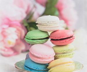 macaroons, candy, and sweet image