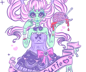 art, zombie, and pastel goth image