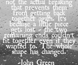 breaking, john green, and sad image