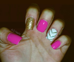 gold, happy, and nails image