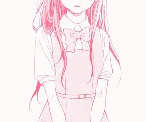 manga, girl, and pink image