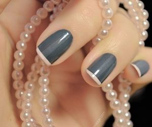 gray, nails, and stripe image
