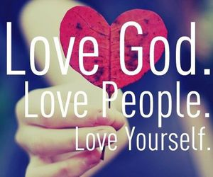 god, love, and people image