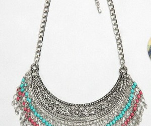 necklace, turquoise, and coral image