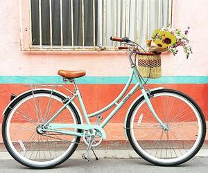 bike, blue, and girl image