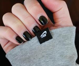 black, black nails, and grunge image