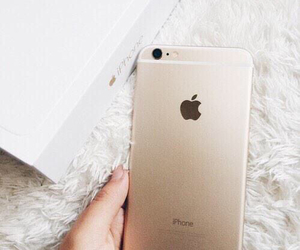 gold, iphone, and apple image
