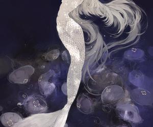mermaid and anime image