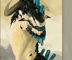 art, dragon, and white image