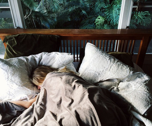 bed, sleep, and nature image