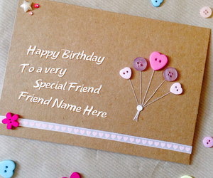 birthday wishes, name cards for friends, and name cards wishes image