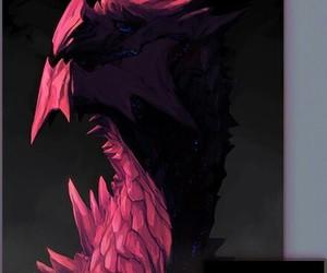 art, black, and dragon image